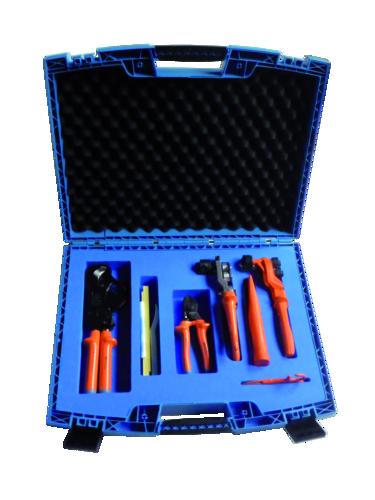 Coffret d'outils pour préparation de câbles BT