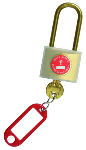 Cadenas de consignation avec clé unique numérotée