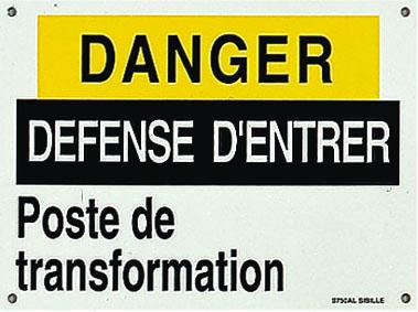 Affiches et pancartes pour poste de transformation