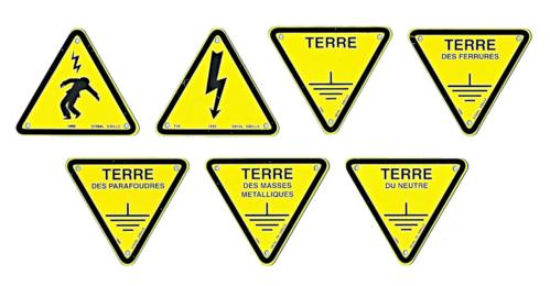 Triangles d'avertissement et de signalisation de terre
