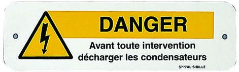 Affiches d'avetissement diverses